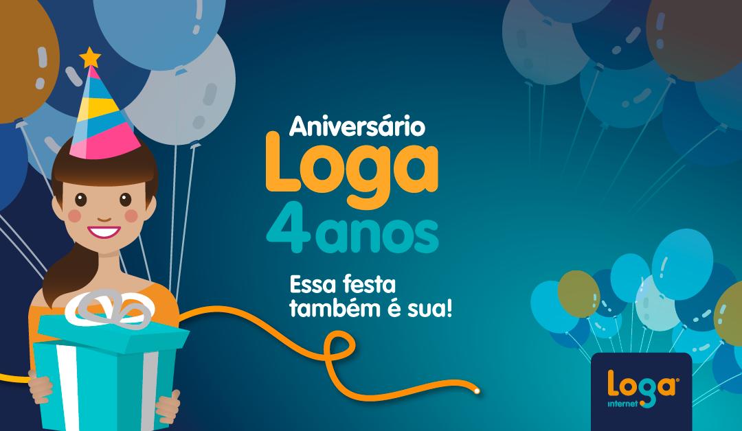 Aniversário Loga 4 anos 🎂🤩 Essa festa também é sua!