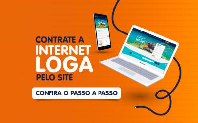 Como contratar a Internet Loga pelo site?