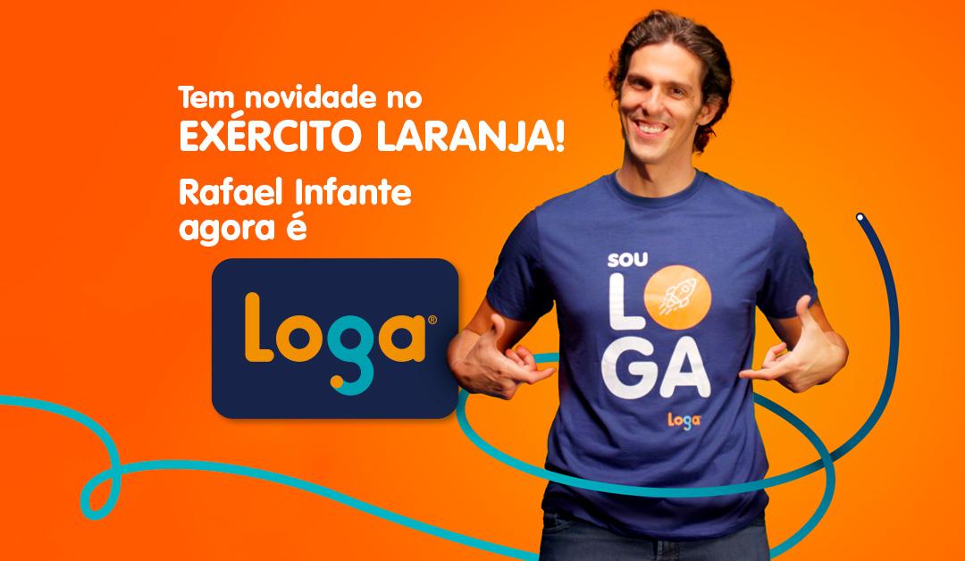 Rafael Infante é a nova cara da Loga