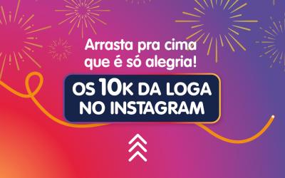 Alcançamos 10 mil seguidores no Instagram
