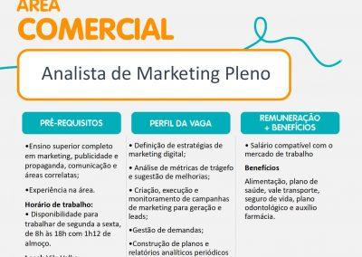 Área comercial: Analista de marketing pleno - Vila Velha